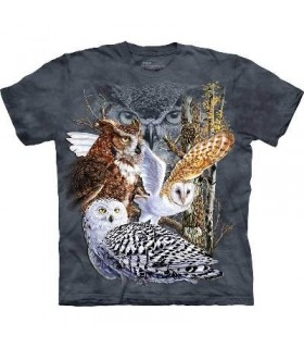 Trouver 11 Hiboux - T-shirt Oiseau The Mountain