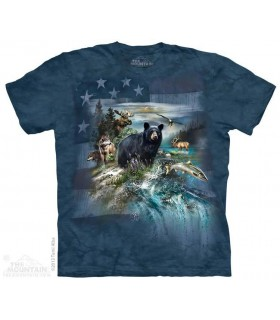 Patriotic North American Collage - Animal T Shirt Mountain