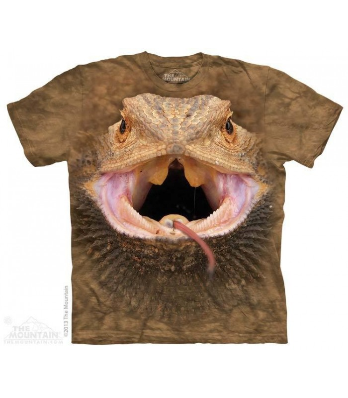 Big Face Bearded Dragon - Reptile T Shirt The Mountain