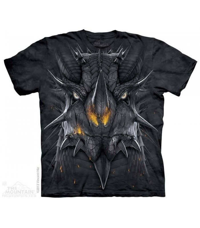 Big Face Dragon - Fantasy T Shirt The Mountain