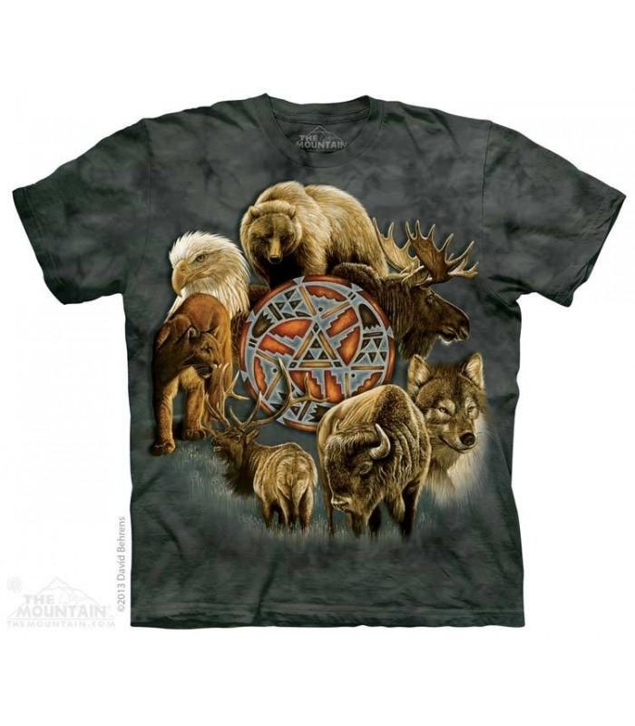 Animal Spirit Circle - Native American T Shirt The Mountain