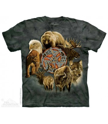 Animal Spirit Circle - Native American T Shirt The Mountain