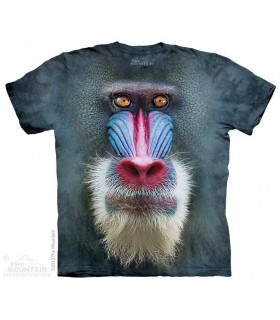 Big Face Mandrill Baboon - Monkey T Shirt The Mountain