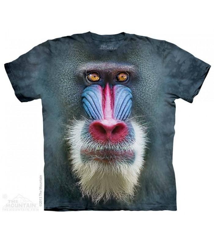 Tête de Babouin de Mandrill - T-shirt Singe The Mountain