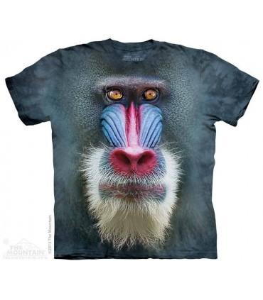 Big Face Mandrill Baboon - Monkey T Shirt The Mountain