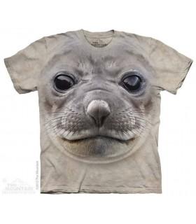 Big Face Seal - Aquatic T Shirt The Mountain