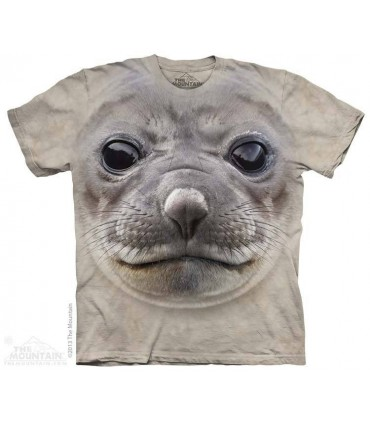 Big Face Seal - Aquatic T Shirt The Mountain