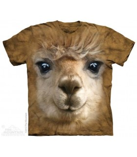 Big Face Alpaca - Animal T Shirt The Mountain