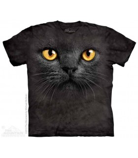 T-shirt tête de Chat Noir The Mountain