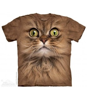 Big Face Brown Cat - Pet T Shirt The Mountain