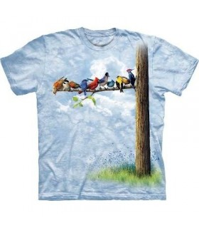 T-Shirt Oiseaux sur l'Arbre par The Mountain