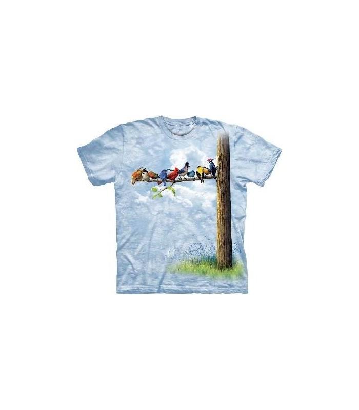 Bird Tree - Birds T Shirt by the Mountain