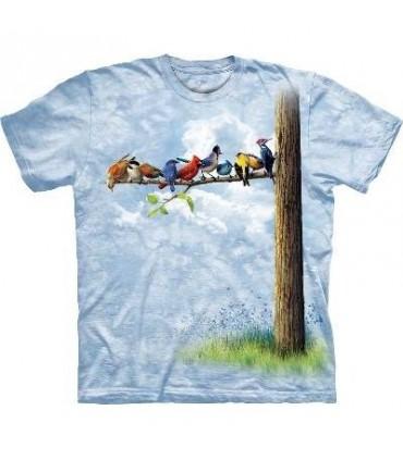 T-Shirt Oiseaux sur l'Arbre par The Mountain