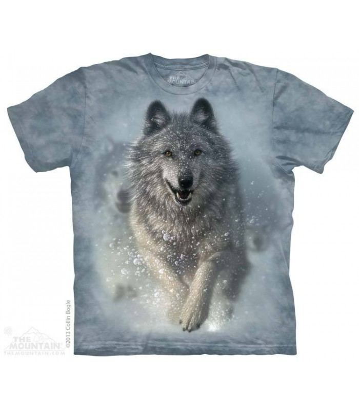 Chasse Neige - T-shirt Loup The Mountain
