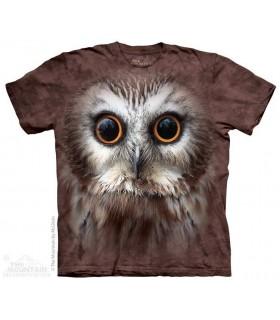 Saw Whet Owl - Big Face Bird T Shirt The Mountain