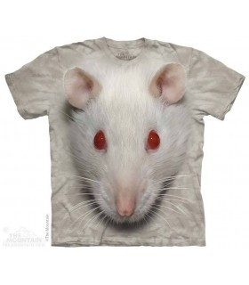 T-shirt tête de Rat Blanc The Mountain