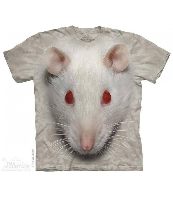 Big Face White Rat - Animal T Shirt The Mountain