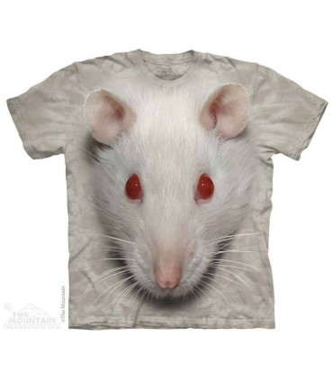 Big Face White Rat - Animal T Shirt The Mountain