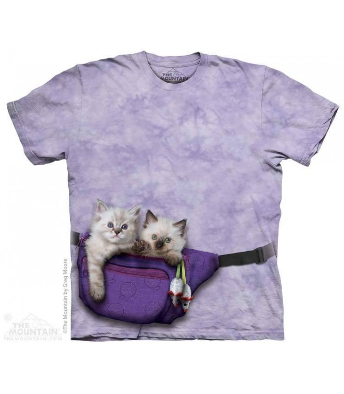 T-shirt Chatons en balade par The Mountain