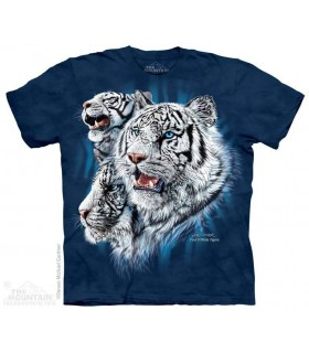 Find 9 White Tigers - Hidden Images T Shirt The Mountain