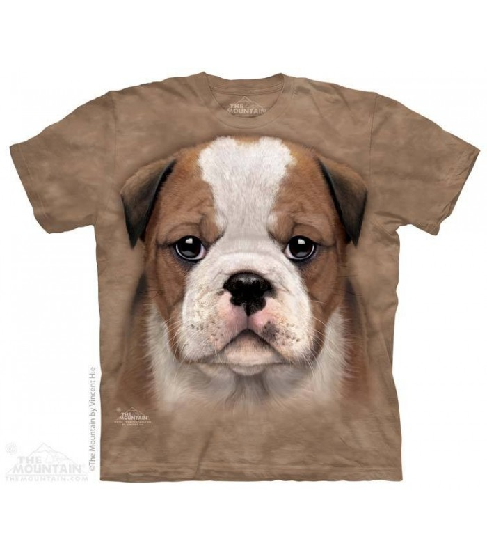 Bulldog Puppy - Dog T Shirt The Mountain