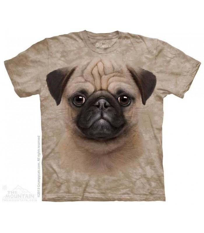 T-shirt tête de chiot Carlin The Mountain