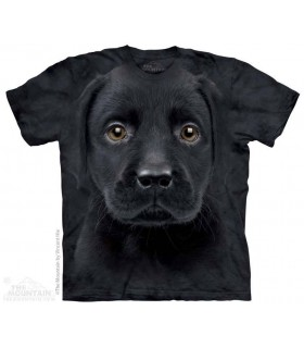 Black Lab Puppy - Dog T Shirt The Mountain