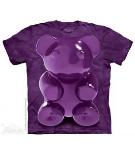Purple Chewy Bear - Food T Shirt The Mountain