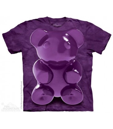 Purple Chewy Bear - Food T Shirt The Mountain