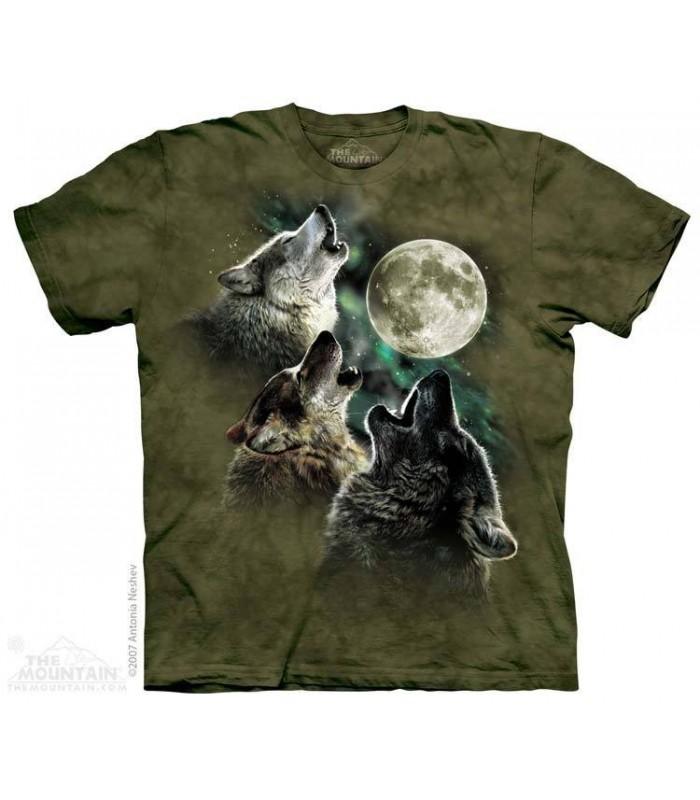 3 Loups couleur Olive par The Mountain