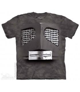 Big Face Gray Robot - Sci Fi T Shirt The Mountain