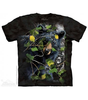 Find 8 Black Bears - Hidden Images T Shirt The Mountain