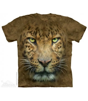 Big Face Leopard - Big Cat T Shirt The Mountain