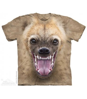 Big Face Hyena - Animal T Shirt The Mountain
