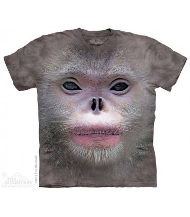 Big Face Snub Nose Monkey - Primate T Shirt The Mountain