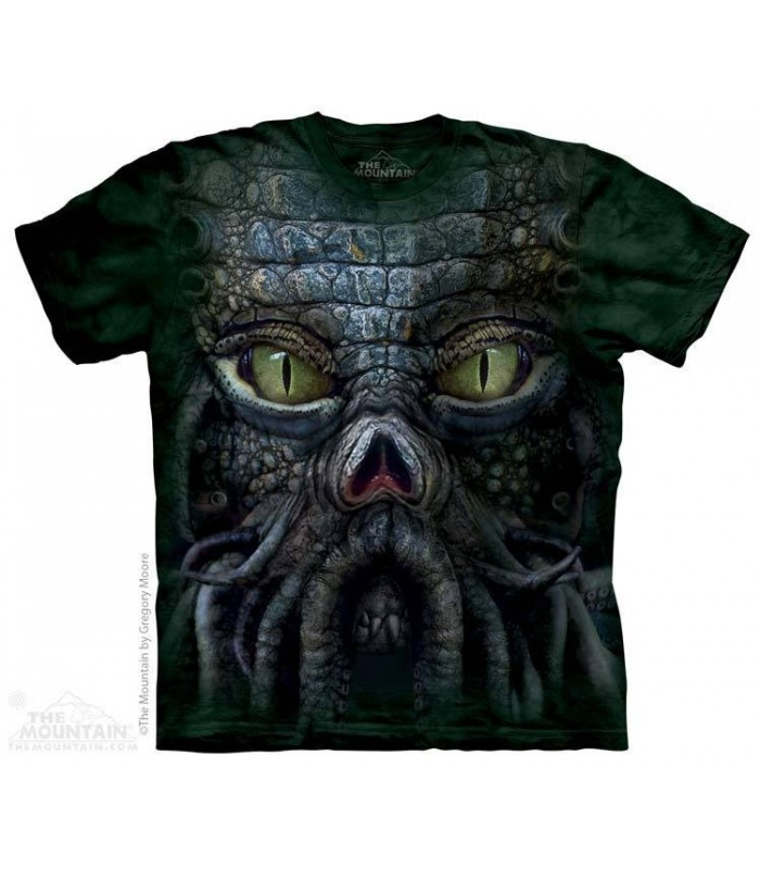 Big Face Cthulhu - Fantasy T Shirt The Mountain
