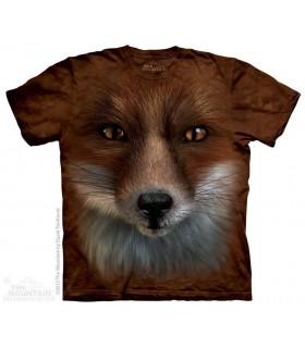 Big Face Fox - Animal T Shirt The Mountain