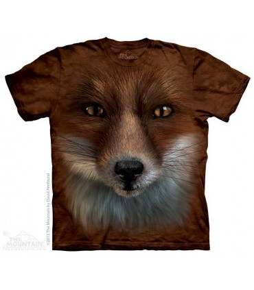 Big Face Fox - Animal T Shirt The Mountain