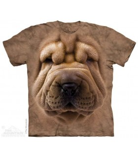 Big Face Shar Pei - Dog T Shirt The Mountain