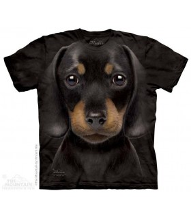 T-shirt Chiot Teckel The Mountain