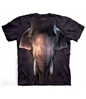 Big Face Asian Elephant - Animal T Shirt The Mountain