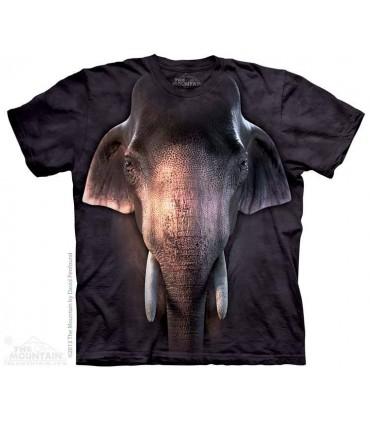 Big Face Asian Elephant - Animal T Shirt The Mountain