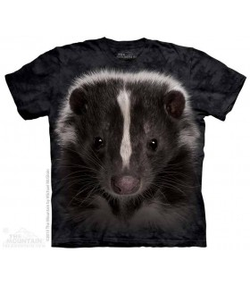 Skunk Portrait - Animal T Shirt The Mountain