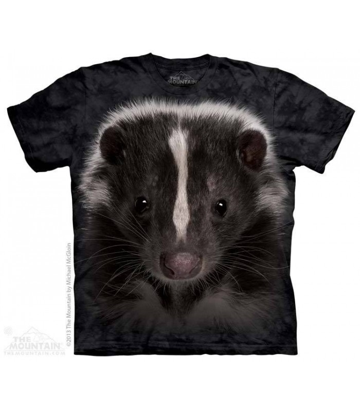 Skunk Portrait - Animal T Shirt The Mountain