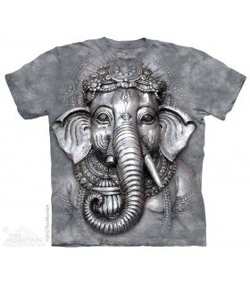 Big Face Ganesh - Spiritual T Shirt The Mountain