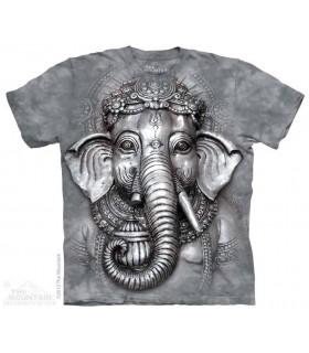 Big Face Ganesh - Spiritual T Shirt The Mountain