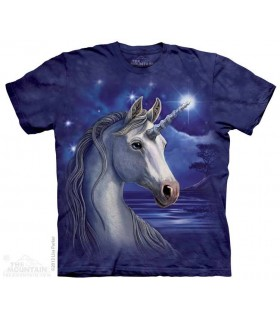 T-shirt Licorne dans la Nuit par The Mountain