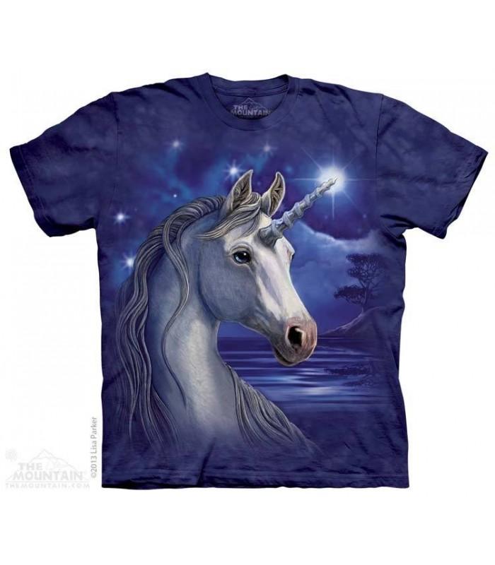 Unicorn Night - Fantasy T Shirt The Mountain