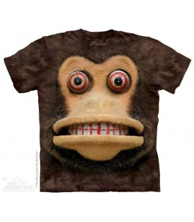 Big Face Cymbal Monkey - Humorous T Shirt The Mountain