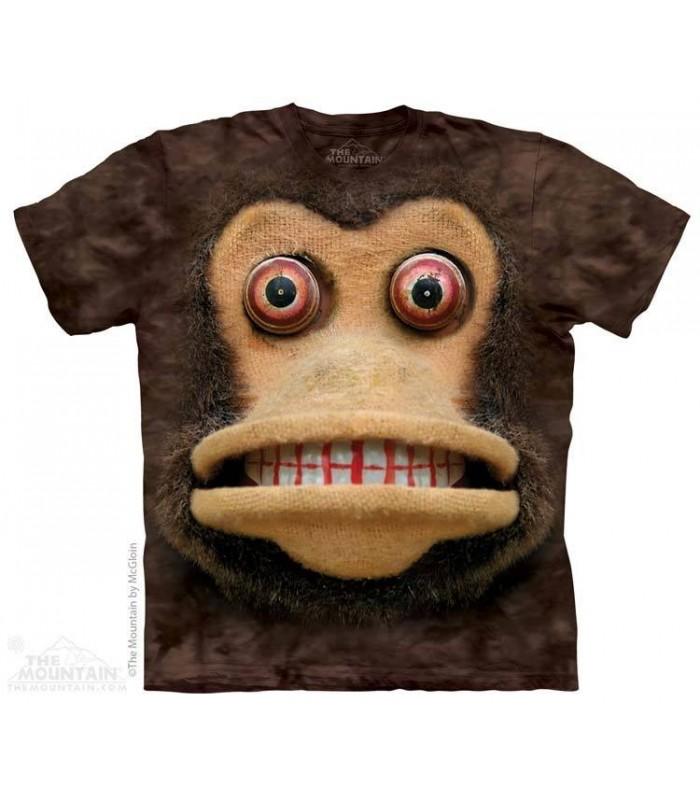 Big Face Cymbal Monkey - Humorous T Shirt The Mountain